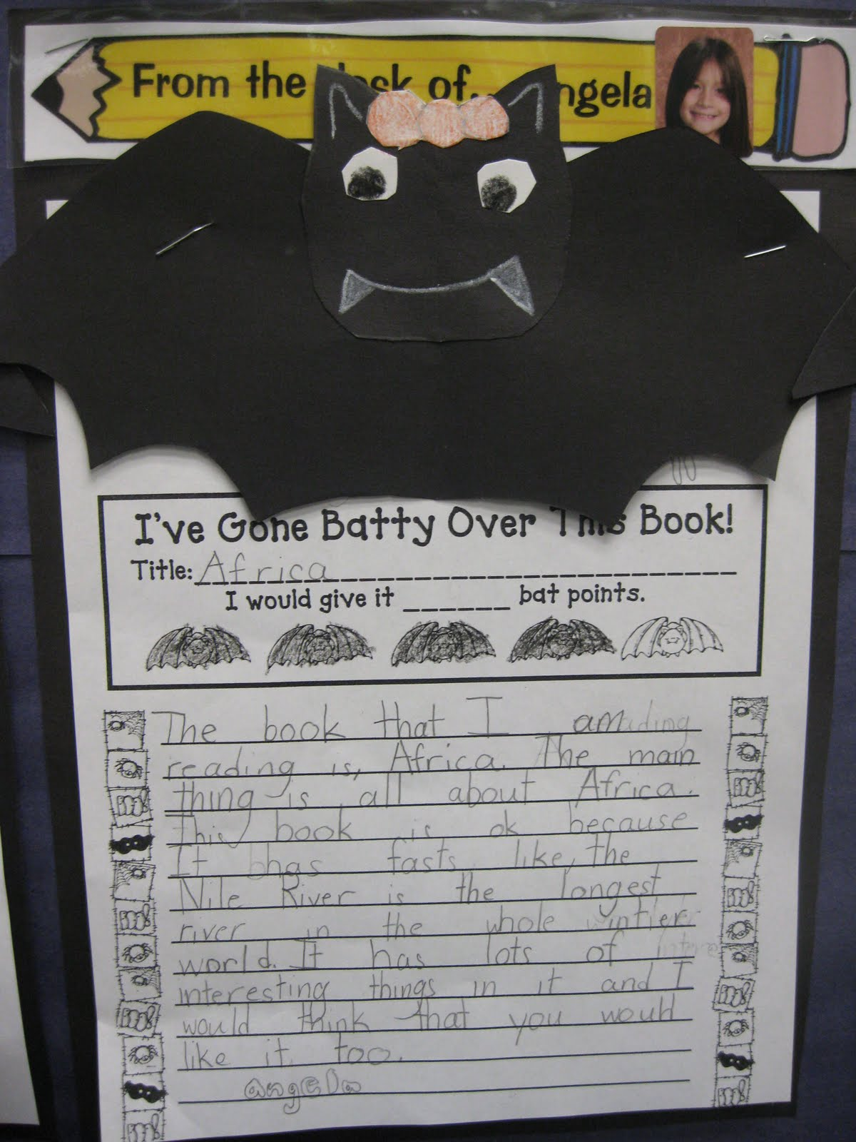 Third Grade Thinkers Halloween Themed Book Review