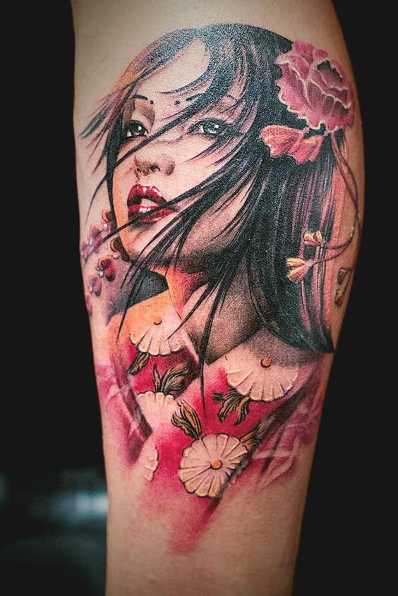 small geisha tattoo