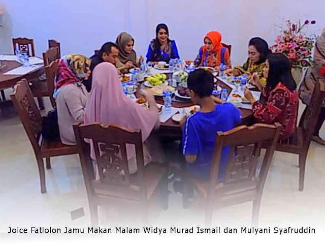 Joice Fatlolon Jamu Makan Malam Widya Murad Ismail dan Mulyani Syafruddin