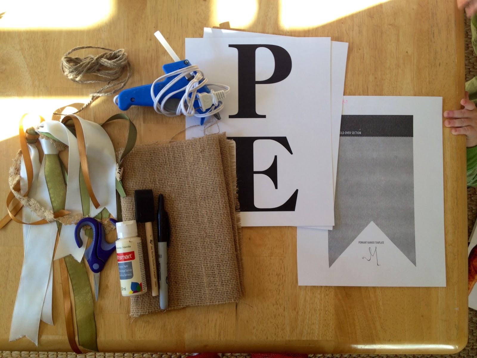 Marta Writes Diy Burlap Pennant Banner Tutorial