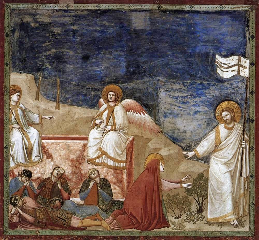A Ressurreição - Giotto di Bondone e suas pinturas ~ Primeiro a introduzi a perspectiva na pintura