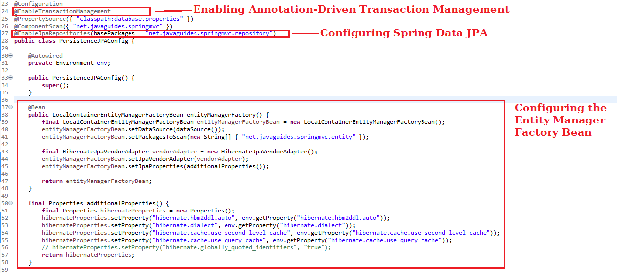 Spring Data JPA Tutorial - Java Based Configuration