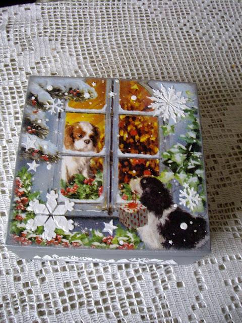 Inspiracje ze świata przyrody – zimowe pudełko z psiakami :)