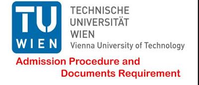 TU Wien (Technische Universität Wien)  Admission Procedure and Documents Requirement
