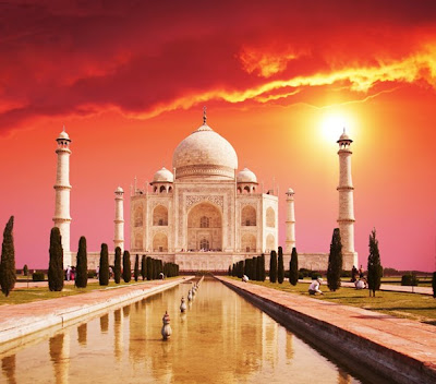 Taj-Mahal- Sunset-Wallpaper