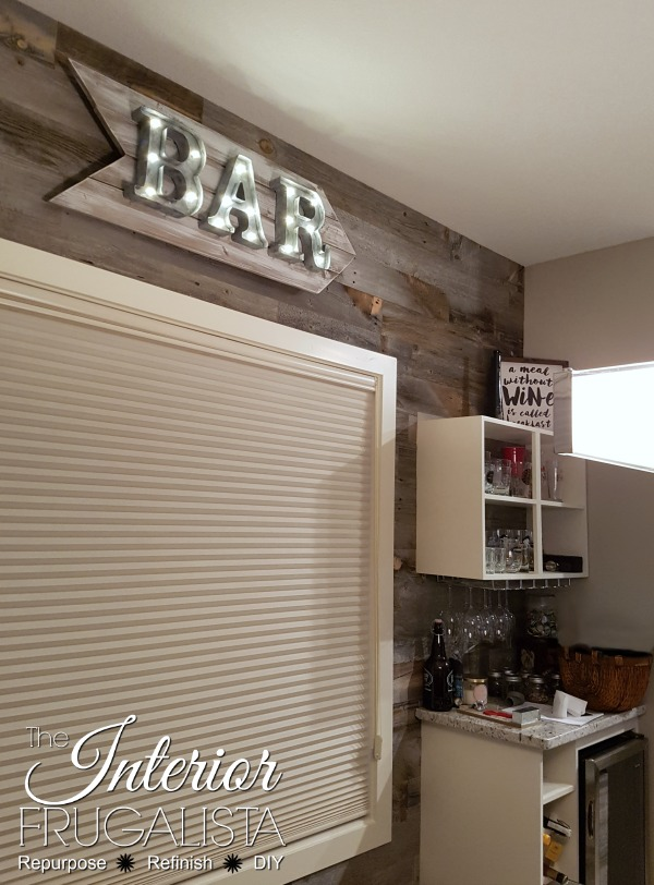 DIY Rustic Marquee Bar Sign