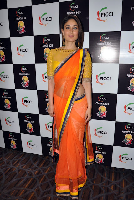 Kareena kapoor modern saree and hot hip