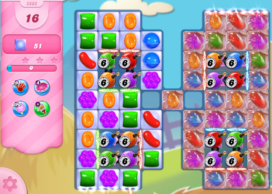 Candy Crush Saga level 2883