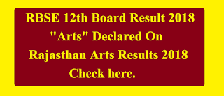 RBSE 12th Board Result 2018 arts