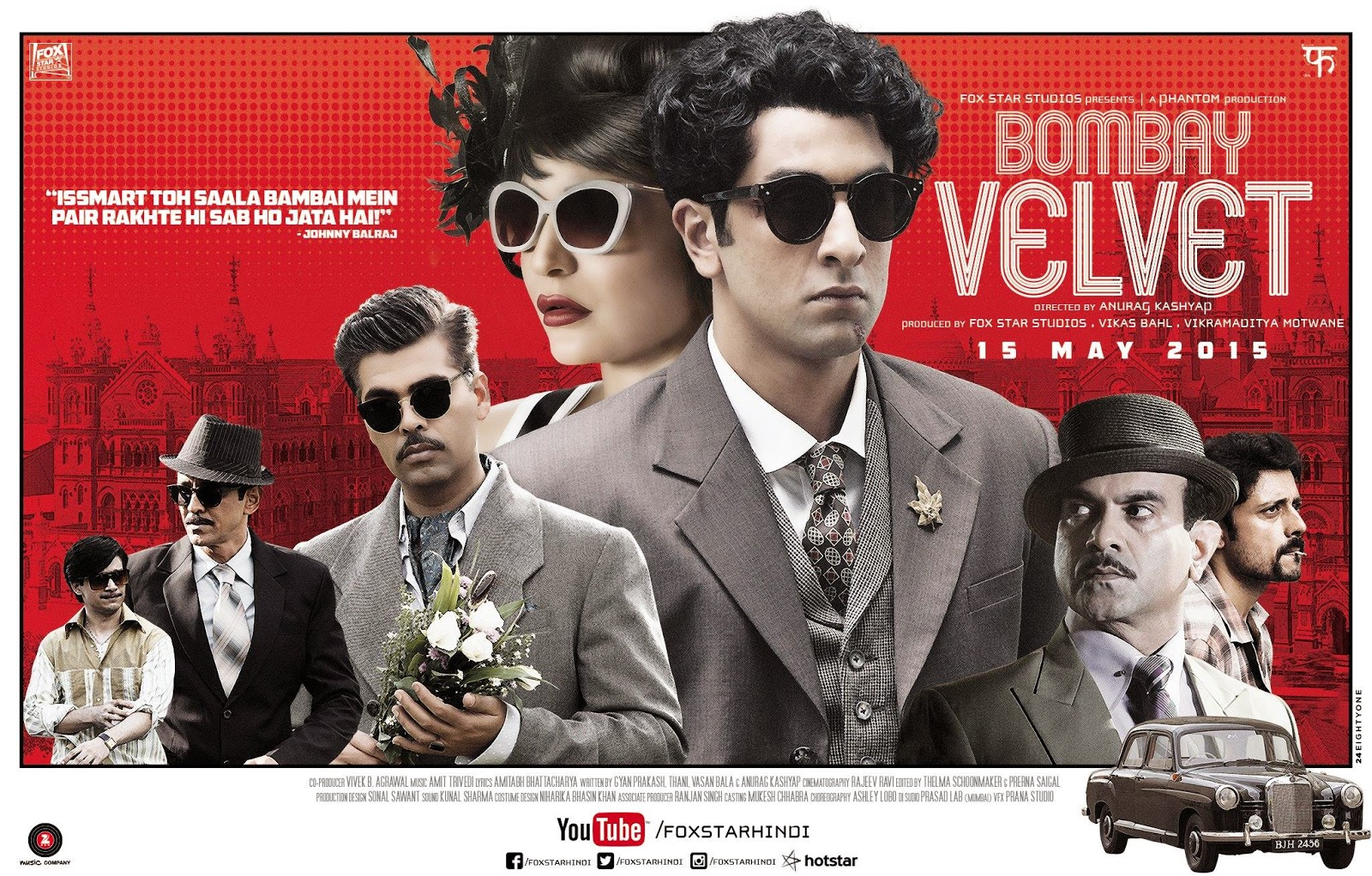 ‪‎New Brand poster of Bombay Velvet‬ ft.‎Ranbir & ‎Anushka in a Classic Pose