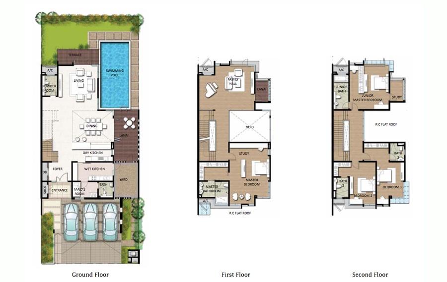 Fera 3 Storey Twin Villa At Precint 8 Putrajaya