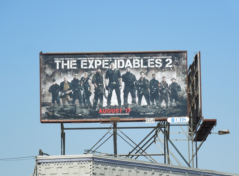 Expendables 2 movie billboard