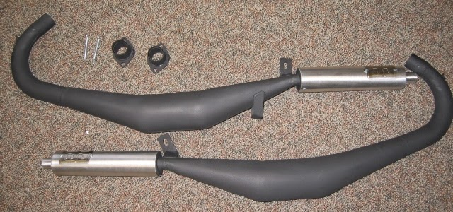 Yamaha RD350 DG Expansion Chambers Exhaust System - Grease n Gas