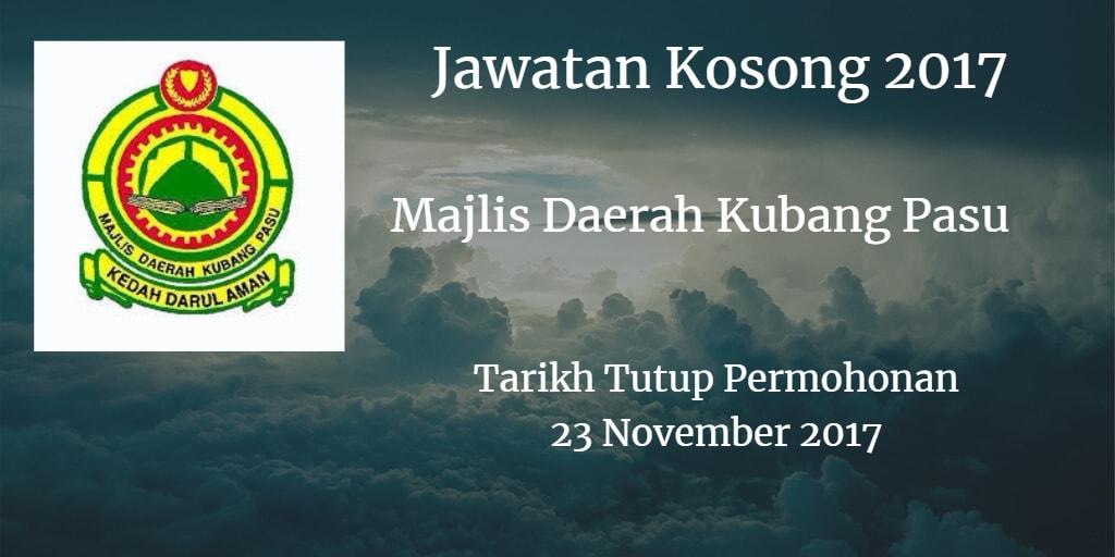 Jawatan Kosong MdKubangPasu 23 November 2017
