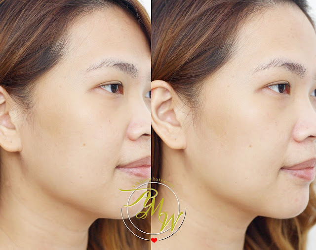 before and after photo of using The Body Shop Drops Of Light™ Pure Healthy Brightening Serum