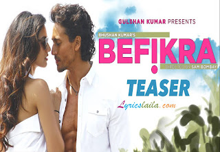 Befikra Lyrics - Featuring -Tiger Shroff & Disha Patani | Meet Bros | Sam Bombay