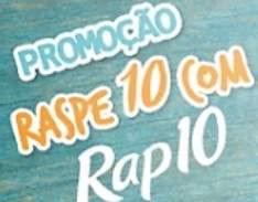 Cadastrar Promoção Rap10 Raspe 10 Raspou Levou Prêmios Raspou Levou