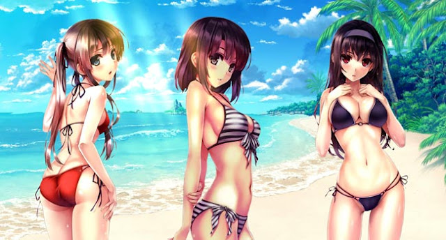Saekano - Bikini Girls Wallpaper Engine