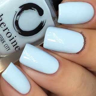 Heroine NYC peek-a-blue swatch