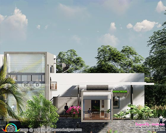 3000 square feet 5 bedroom flat roof contemporary house