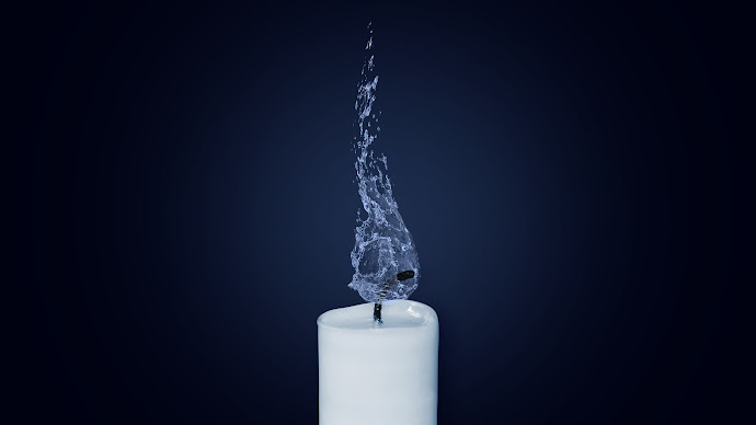 Wallpaper: Water Flame on Candlelight