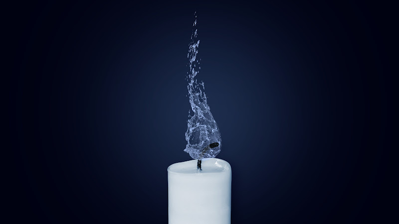 Water Flame on Candlelight