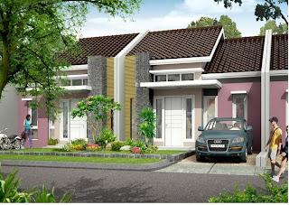 contoh gambar rumah 2: desain rumah tipe 66 di atas lahan