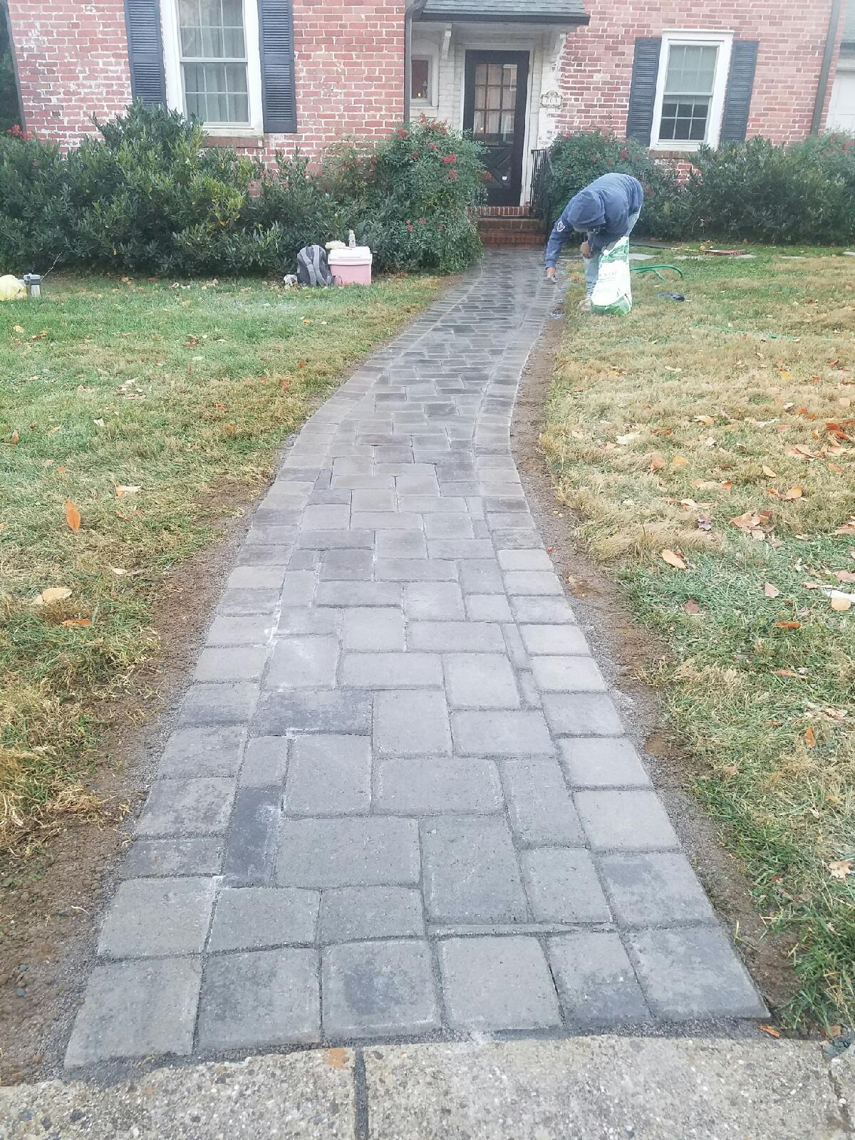 custom stoneworks design inc new paver walkway in