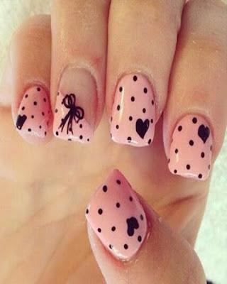 desings nail pink