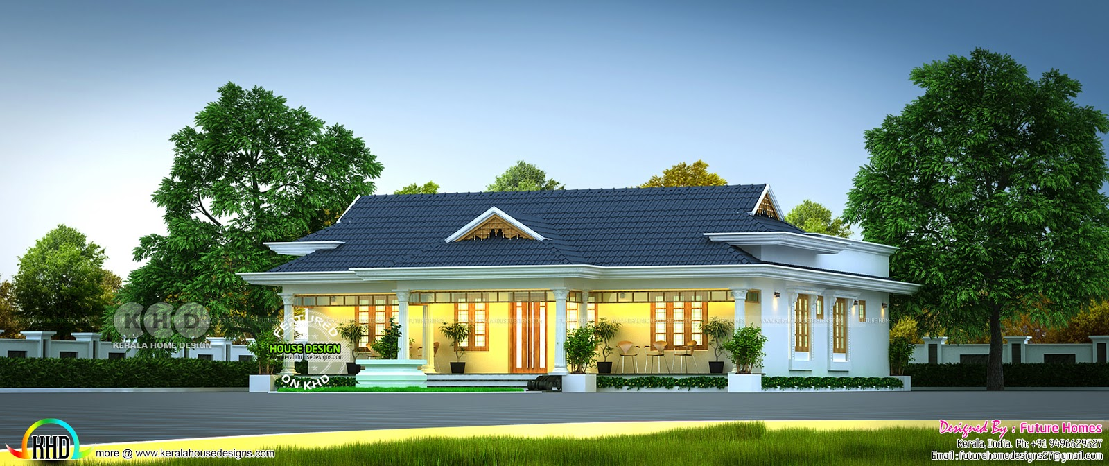 3 Bedroom Kerala Traditional House Design Kerala Home