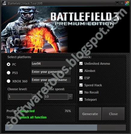 Battlefield 3 Hack Tool 2015 | PC | PS3 | XBOX 360 | No Survey No Password ! - sofftwaretools