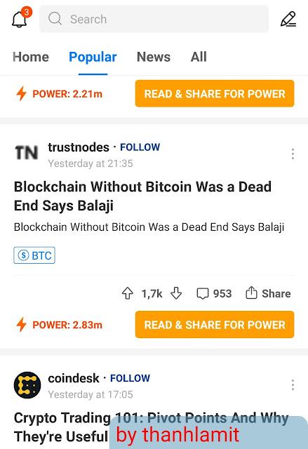 Đọc tin tức và kiếm Bitcoin miễn phí