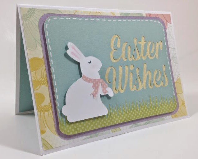 Cricut Artfully Sent Easter POP-UP card sideview
