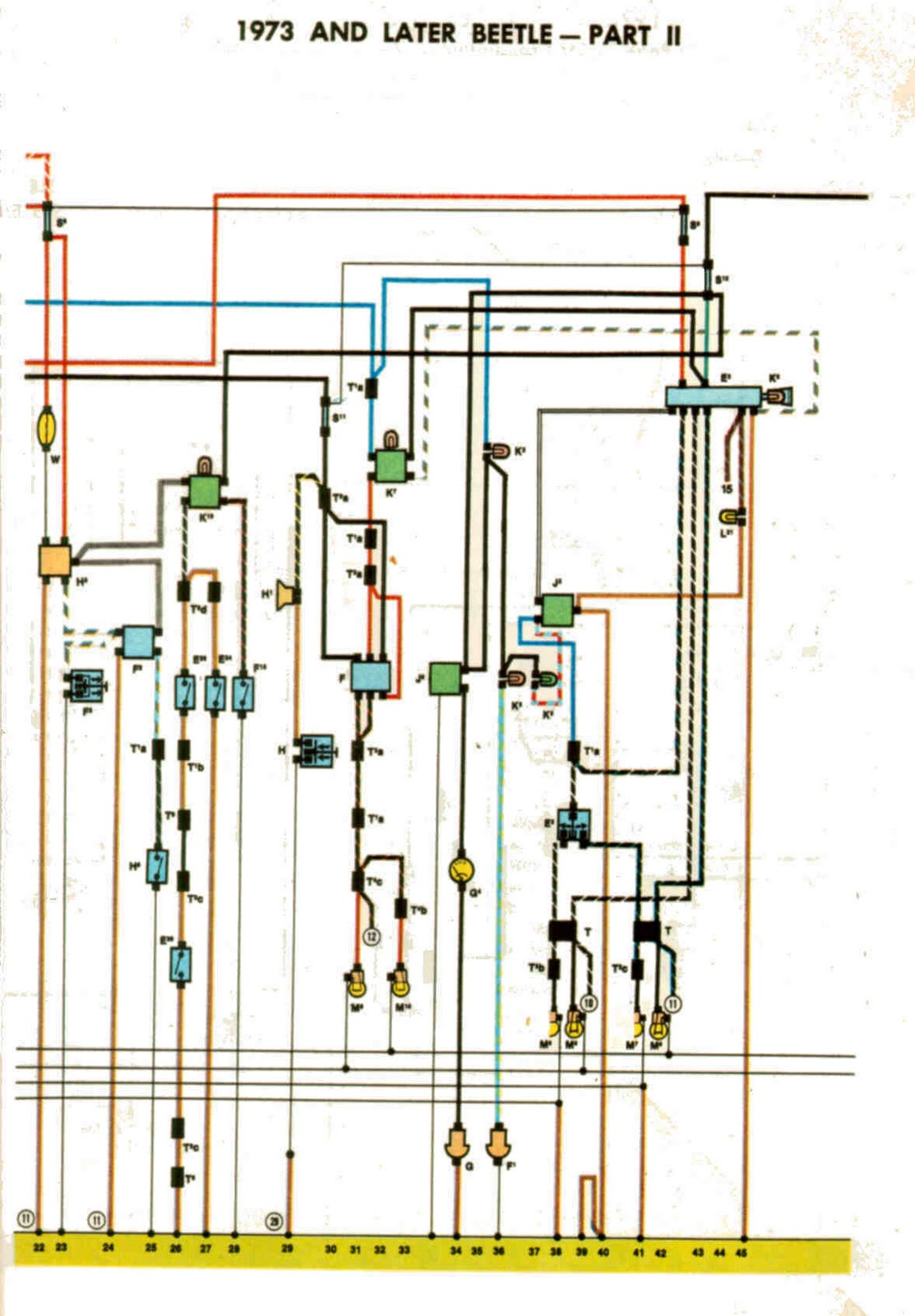starter wiring diagram beetle 1973 wiring diagram for 1973 vw beetle wiring diagrams galleries