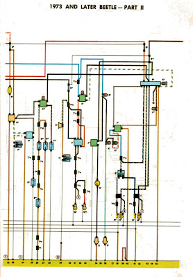 1973-Volkswagon-Beetle-Wiring-Diagrams-part+2  Way Flasher Wiring Diagrams on timer relay, grote led, 2 prong light, for turn signal,