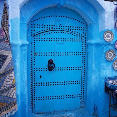 Puerta azul en Chauen