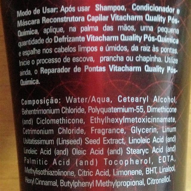 defrizante pós quimica vitacharm quality