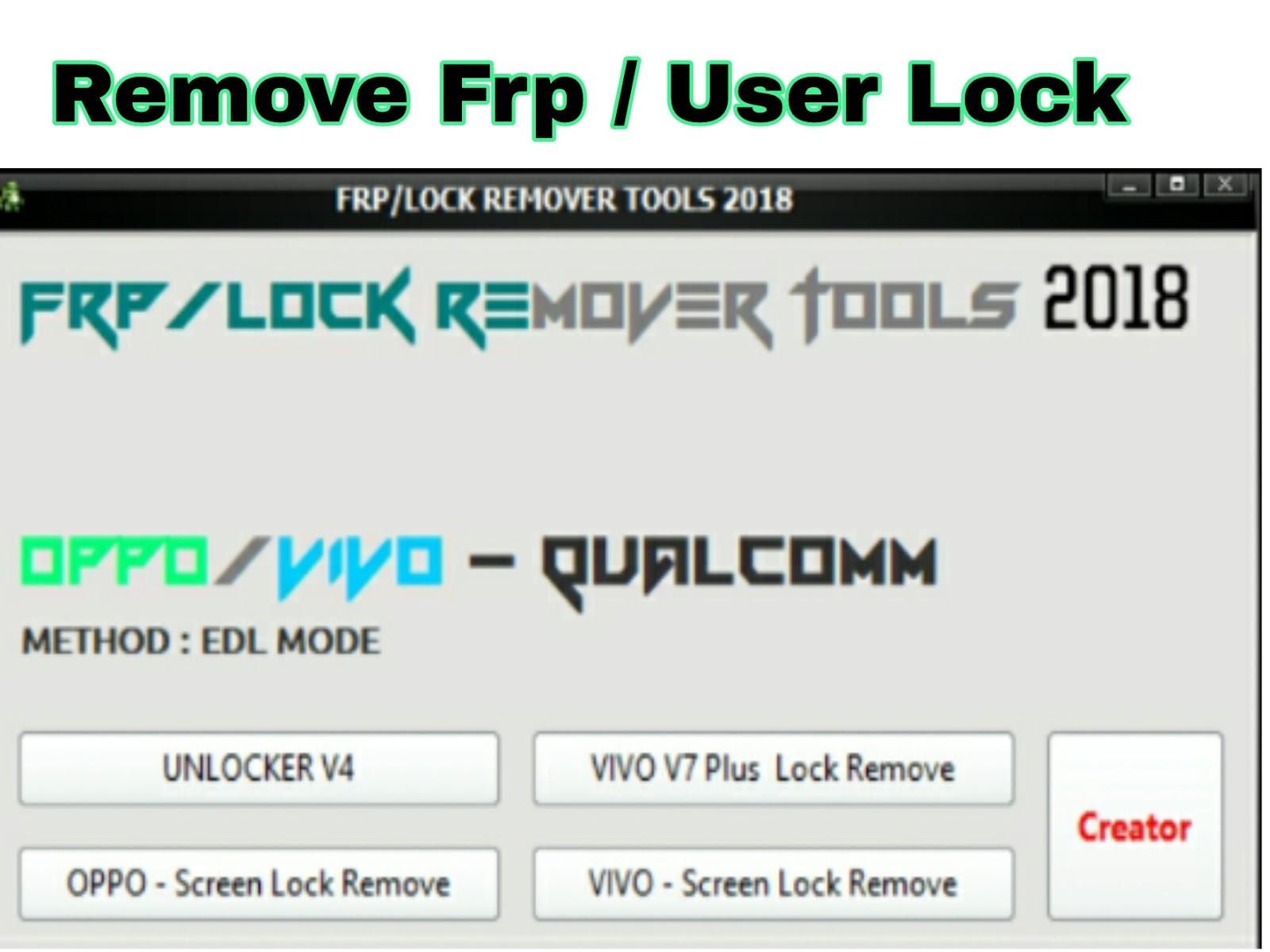Frp Userlock Remover Tool 2018 Free Download Amazing