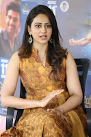 Rakul Preet Singh smiling Beautyin Brown Deep neck Sleeveless Gown at her interview 2.8.17 ~  Exclusive Celebrities Galleries 228.JPG