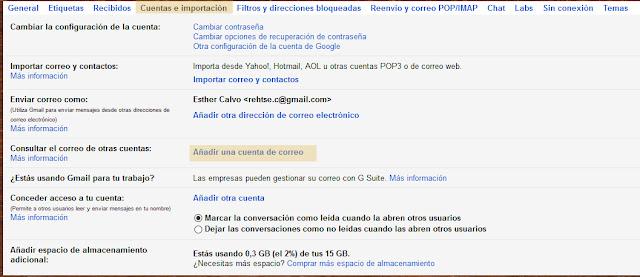 importacion cuentas gmail