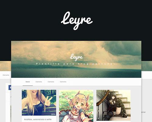 Leyre – plantilla personal responsive, blogger