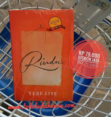 buku novel Rindu karya Tere Liye penerbit Republika