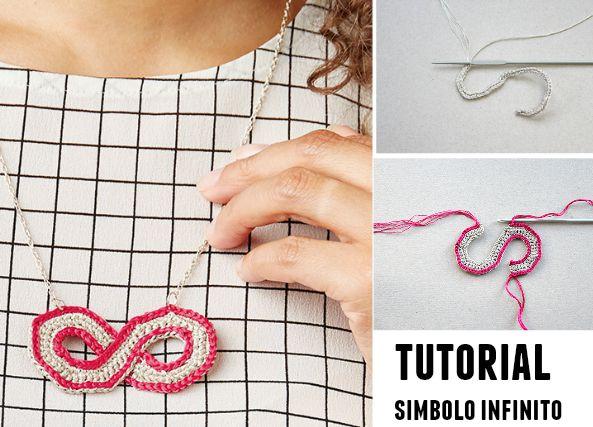 Simbolo infinito colgante de crochet tutorial