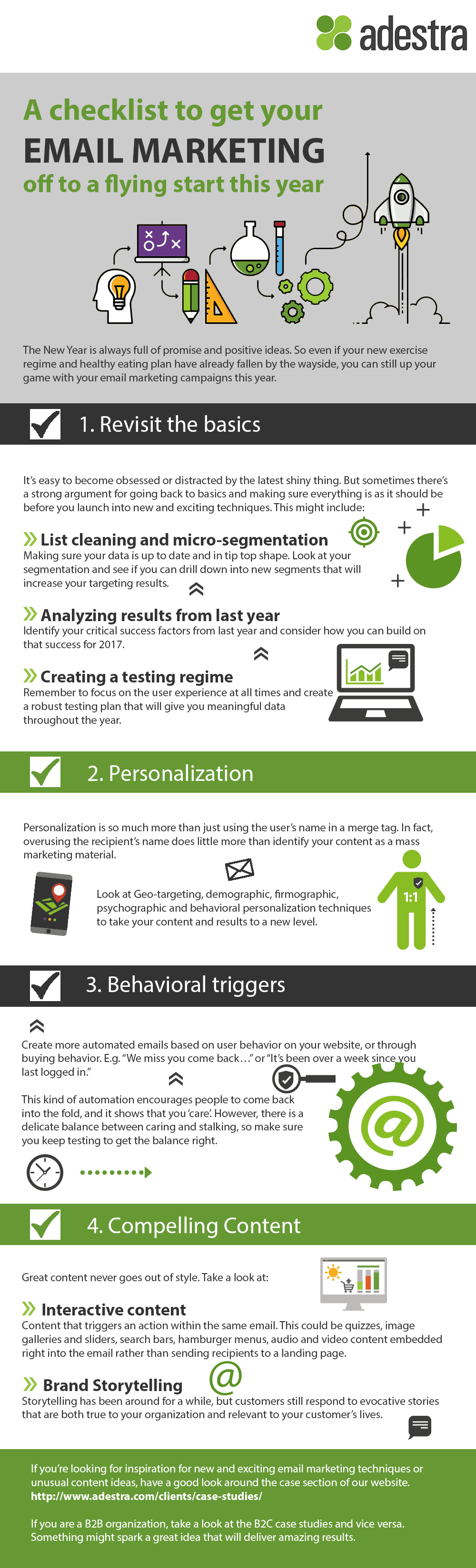 A Checklist To Get Your Email Marketing Off To a Flying Start This Year #Infographic