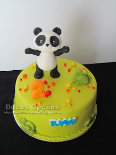 bolo panda aniversário festas