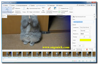 ScreenToGif 2.7.3 - Нажимаете кнопку Изменить размер