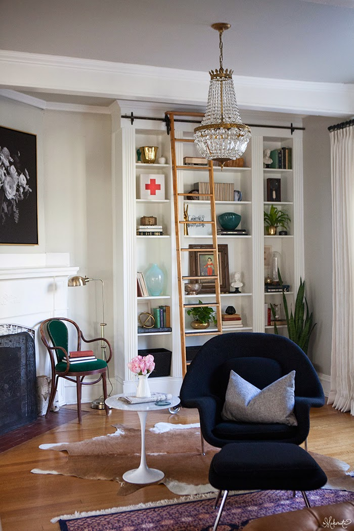 Make A Living Room A Library: The Makerista: Laura's Living Room: Ikea Billy Bookshelves