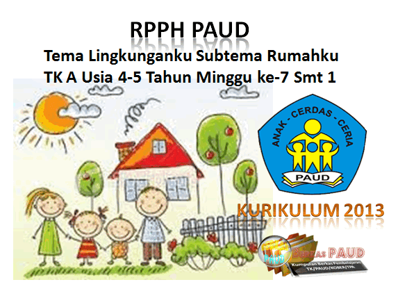 RPPH K-3 PAUD TK A MINGGU KE 7 SMT 1 Tema Lingkunganku/Rumahku