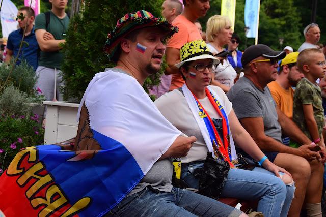Футбольные фанаты, Горный парк футбола Роза Хутор 2018, Красная поляна, Сочи