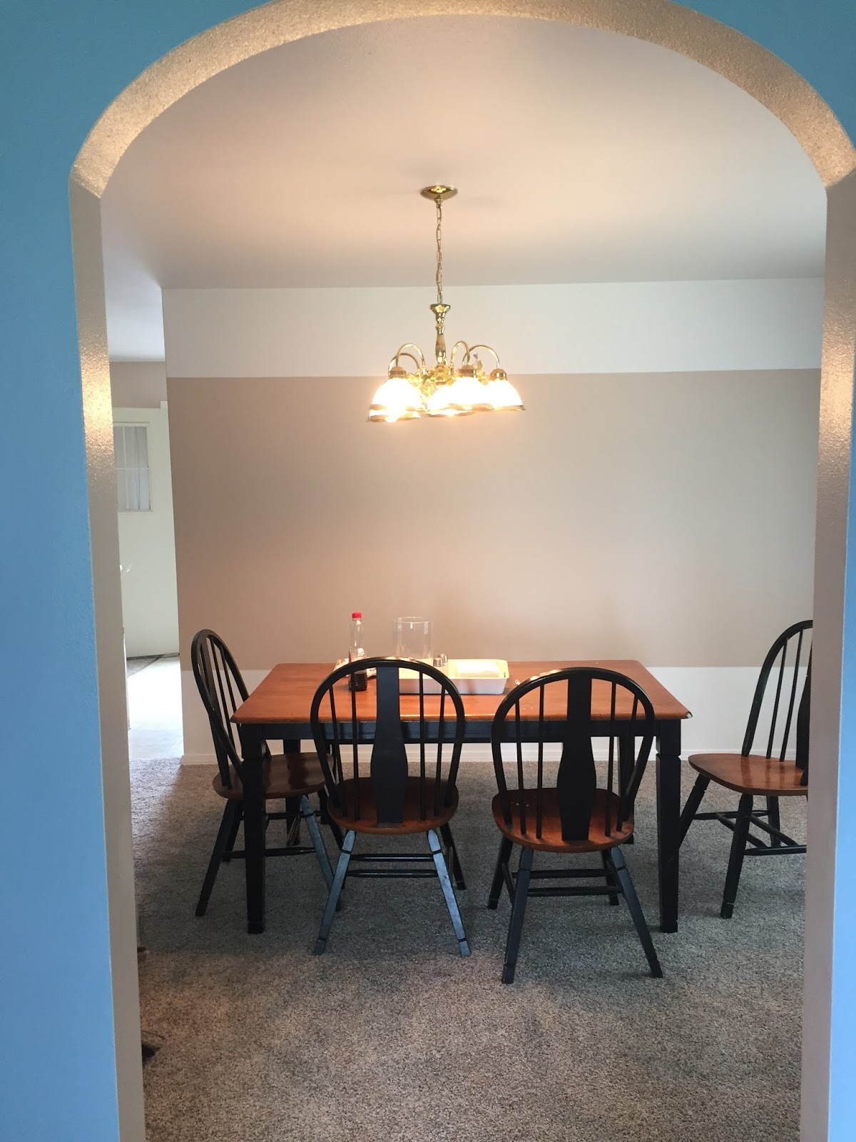The Cons For Us Were Carpet In Dining Room I Guess Messy People And Paint Color Light Fixture Dated Not My Style